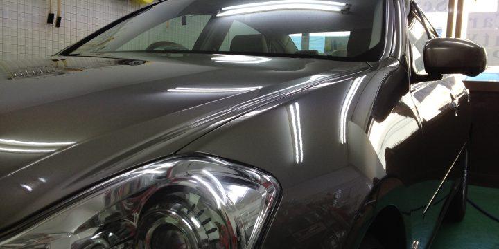 日産フーガコーティング後は艶もアップしとても綺麗な車体に仕上がりました