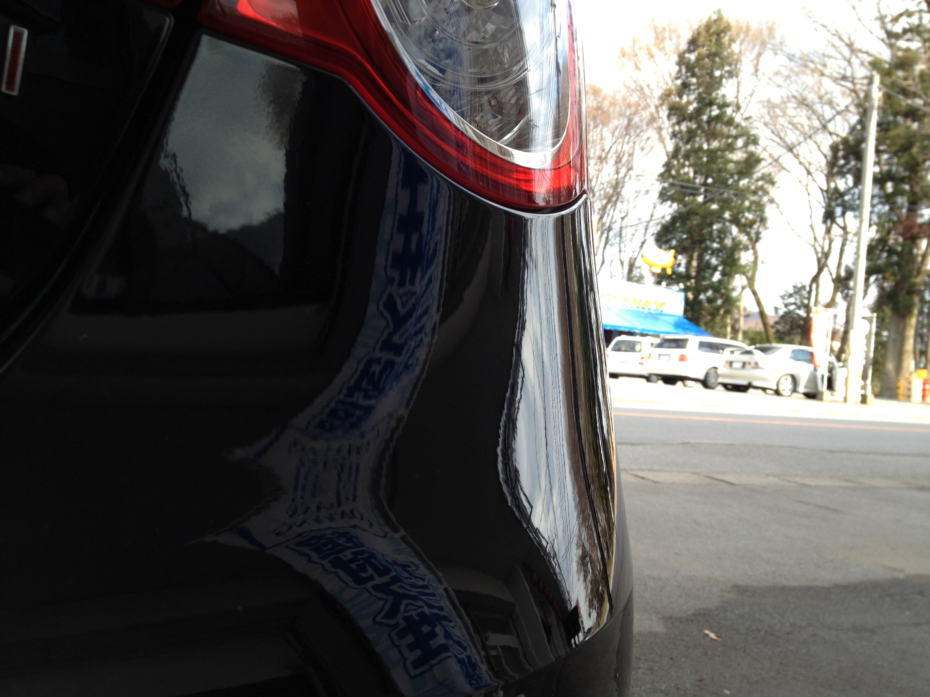 VWフォルクスワーゲンJETTAリアバンパー擦り傷除去後