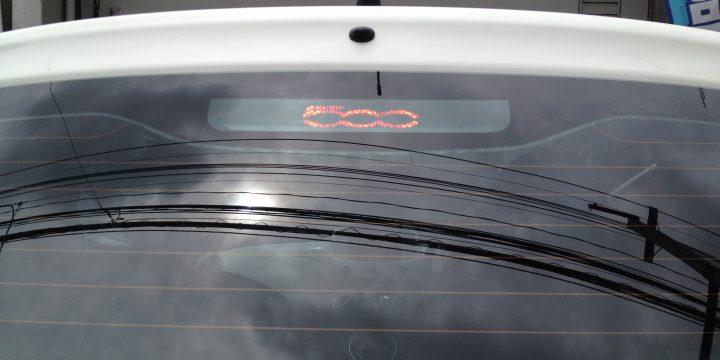FIATフィアット500ハイマウントストップランプ500デカールにてデコレーション