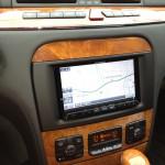 W220メルセデス・ベンツAMG・S55後期へ社外カロッツェリアサイバーナビAVIC-ZH77の取付け