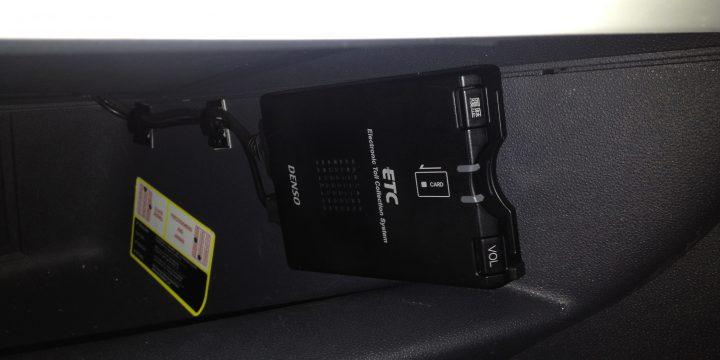 FIAT500へETC車載器の取付け