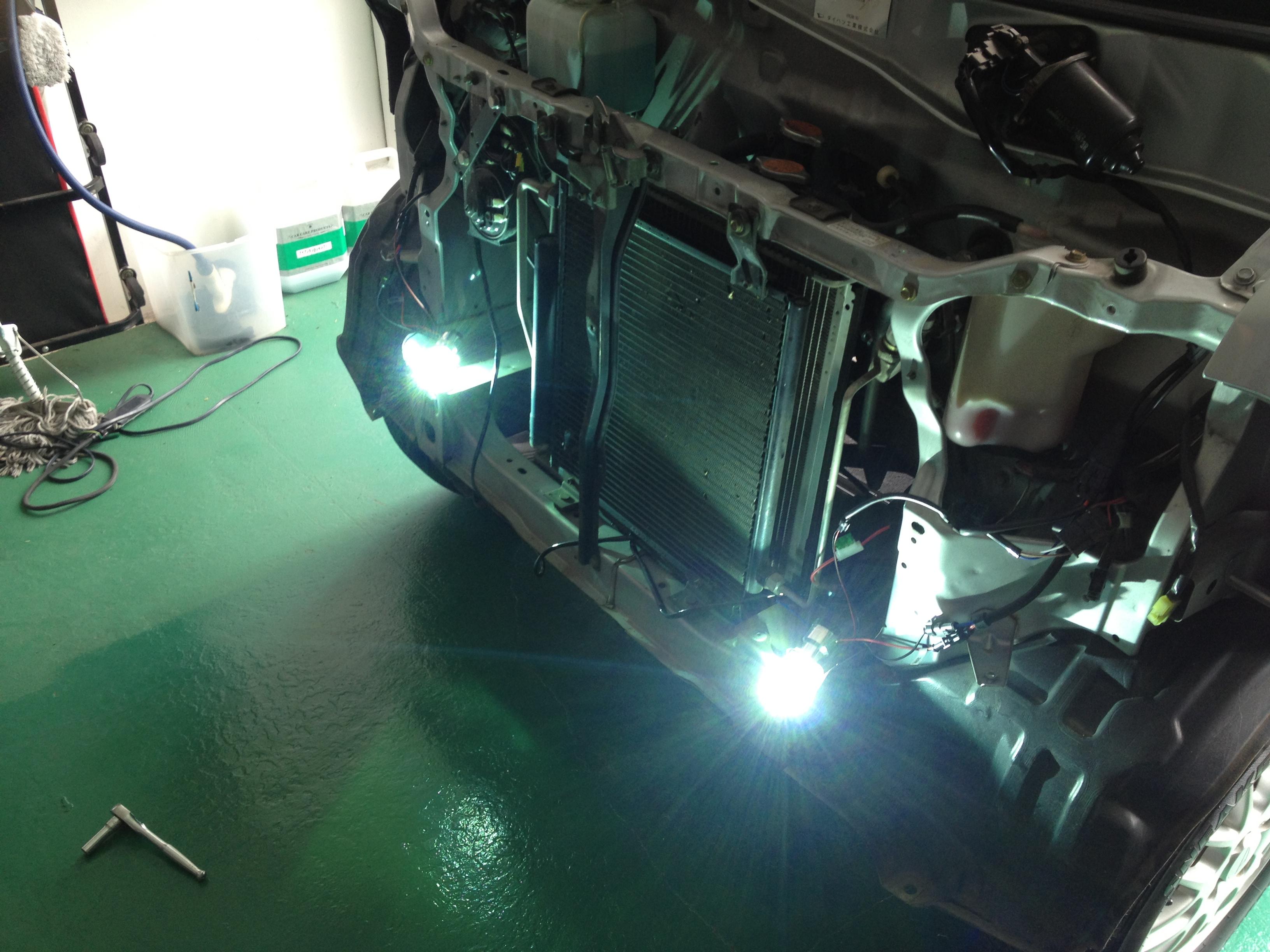 ハイゼットデッキバンH4HIDバーナー空焼き