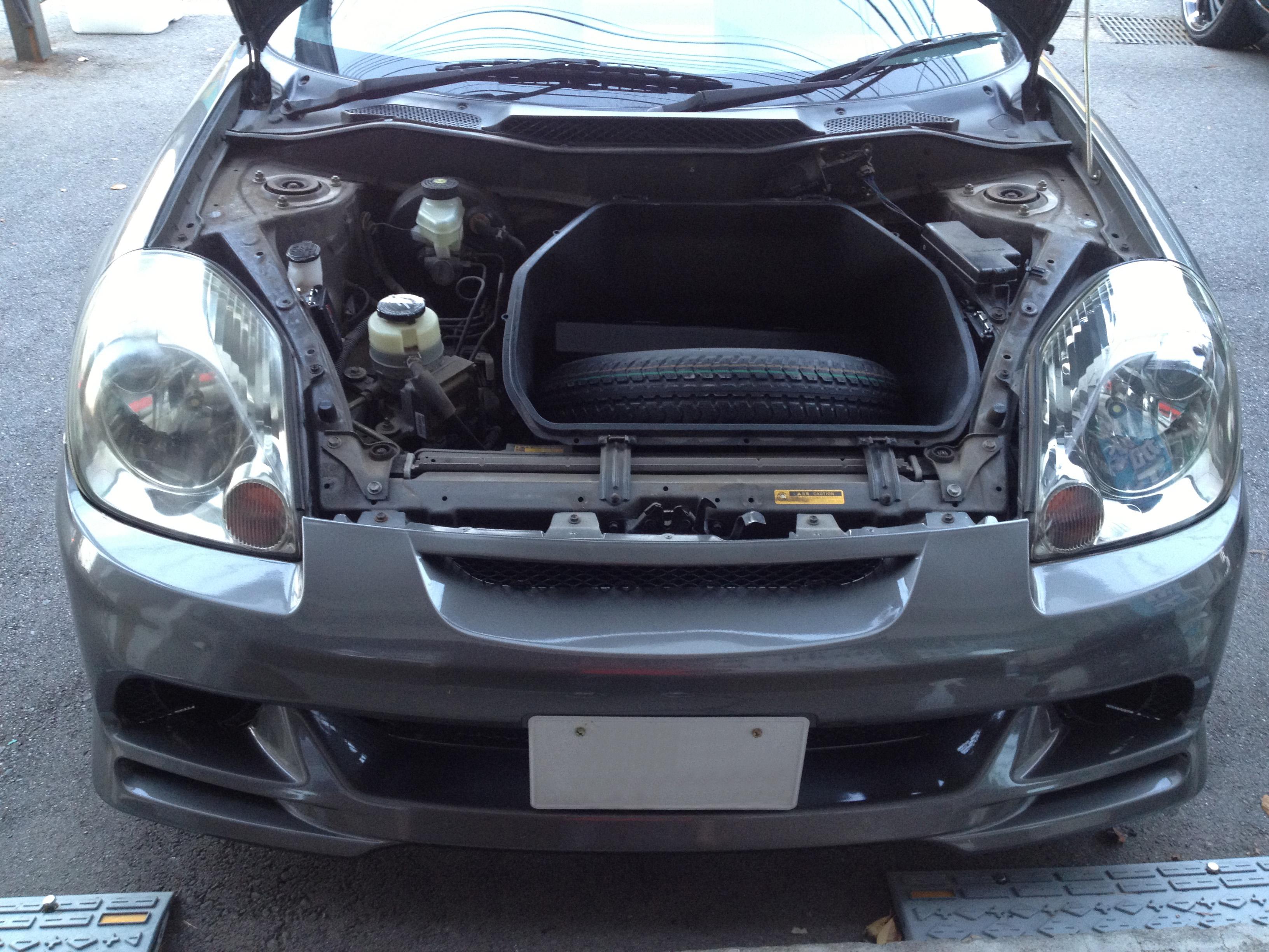 トヨタMR-S後期ヘットライトクリーニング(黄ばみ取り)