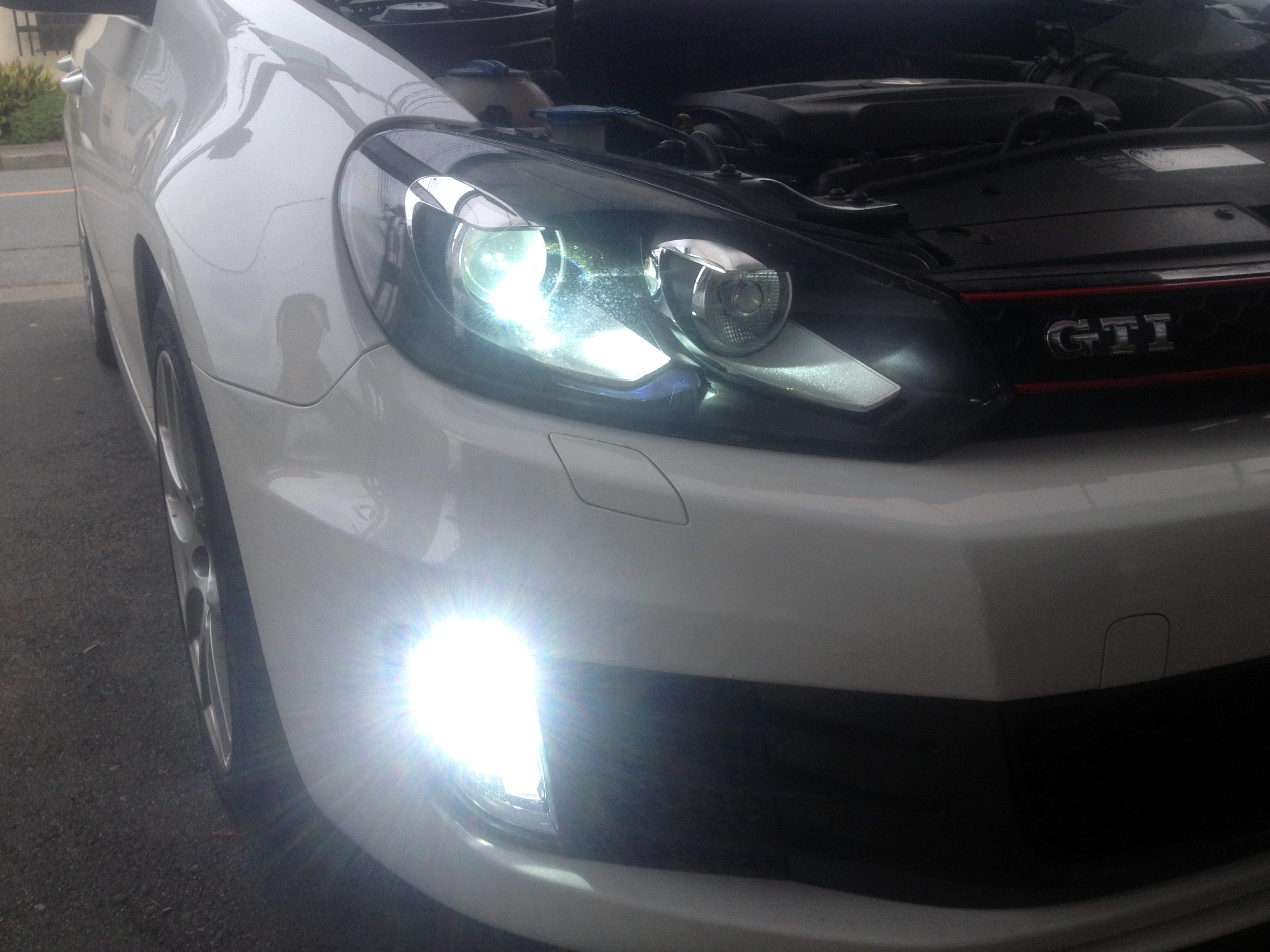 VWゴルフ6GTIヘットライトD1S交換とフォグランプHID化
