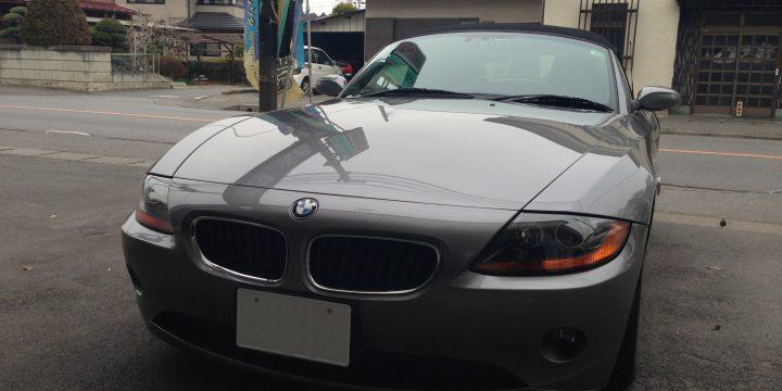 BMW Z4へエシュロンキャンペーンコーティング施工