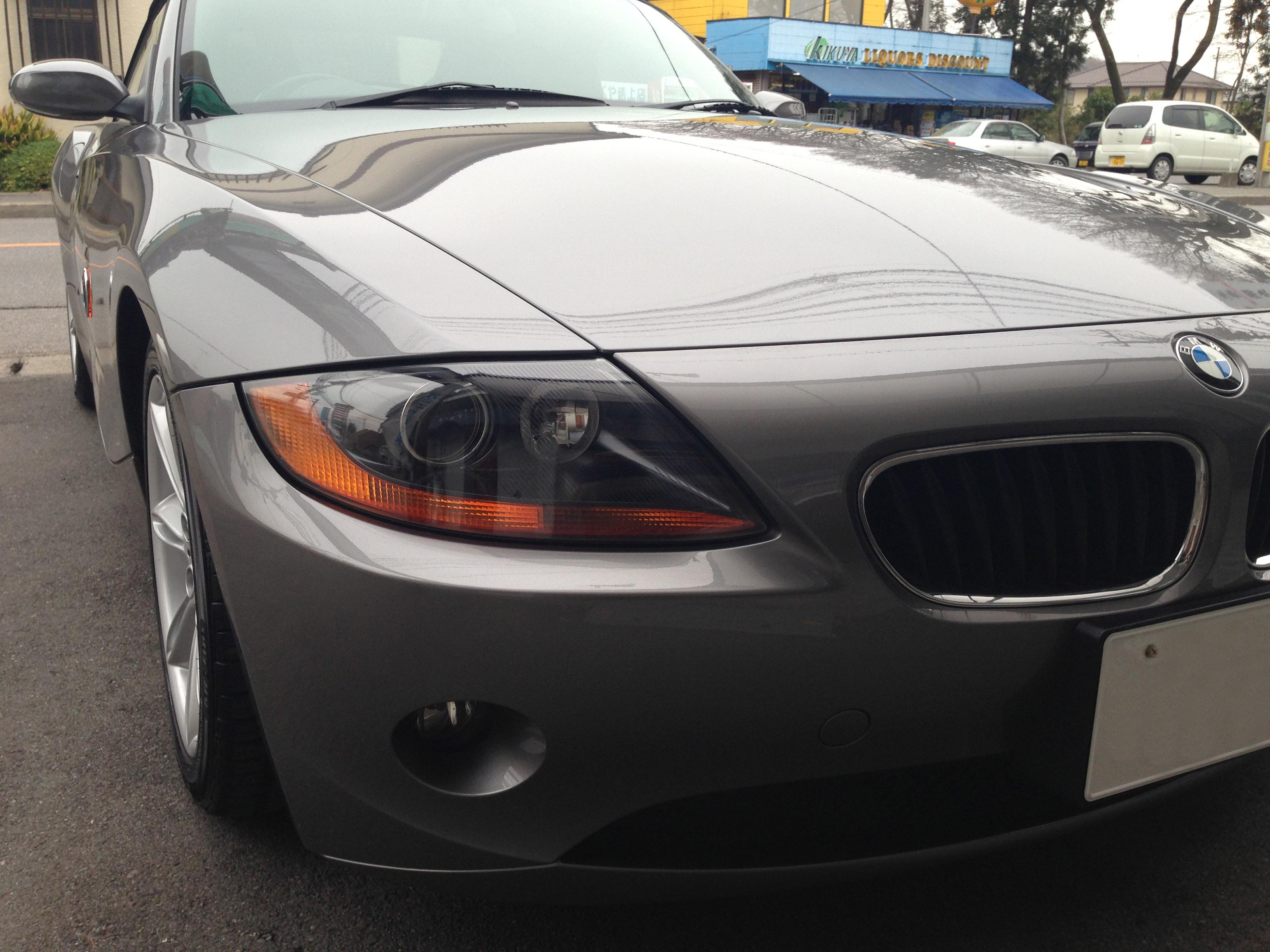 BMW Z4ヘットライトの黄ばみを取りリメイク後