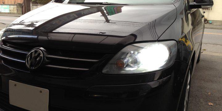 VWゴルフプラスのヘットライトHID化