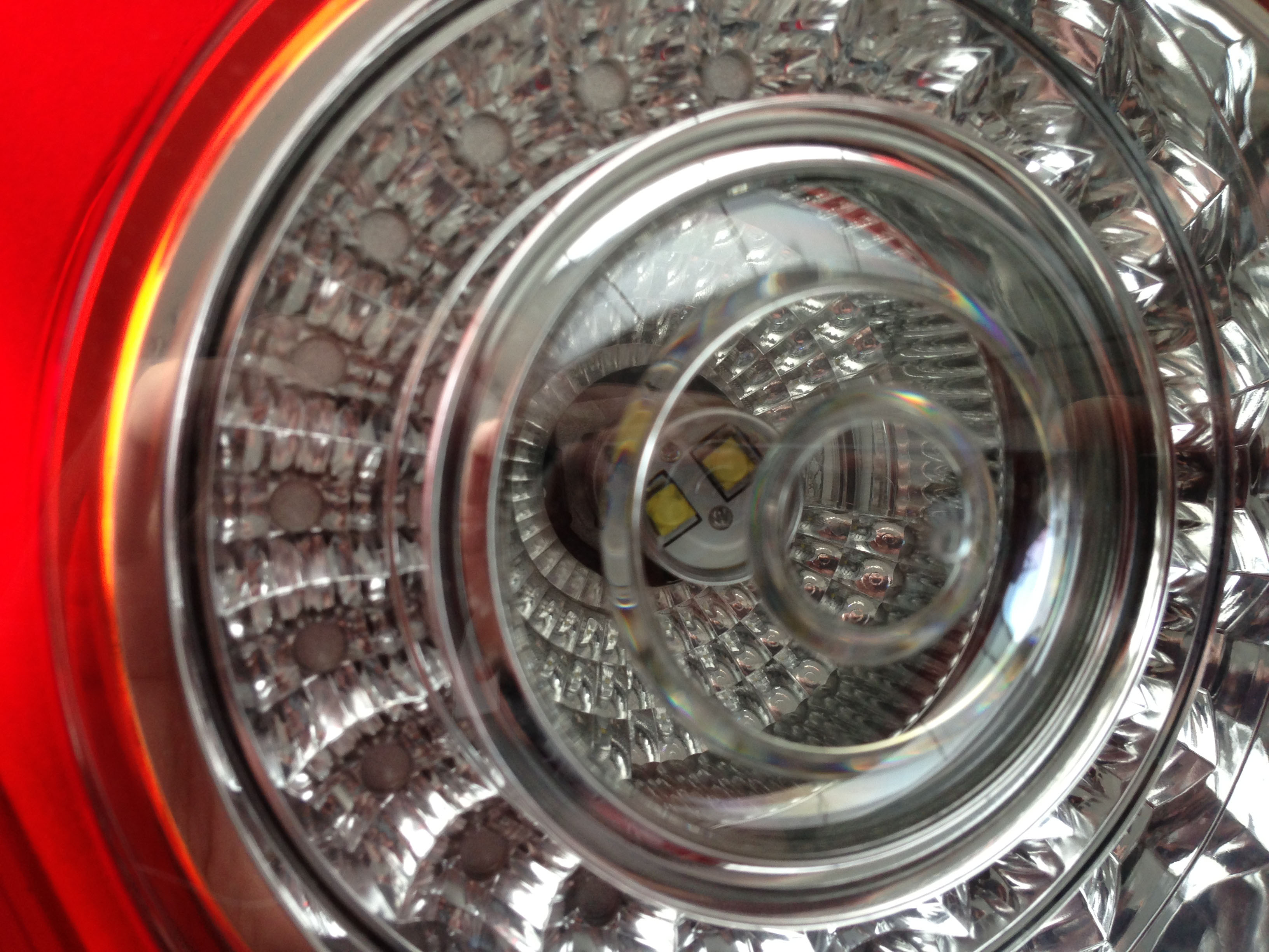 バックランプ消灯時の内部