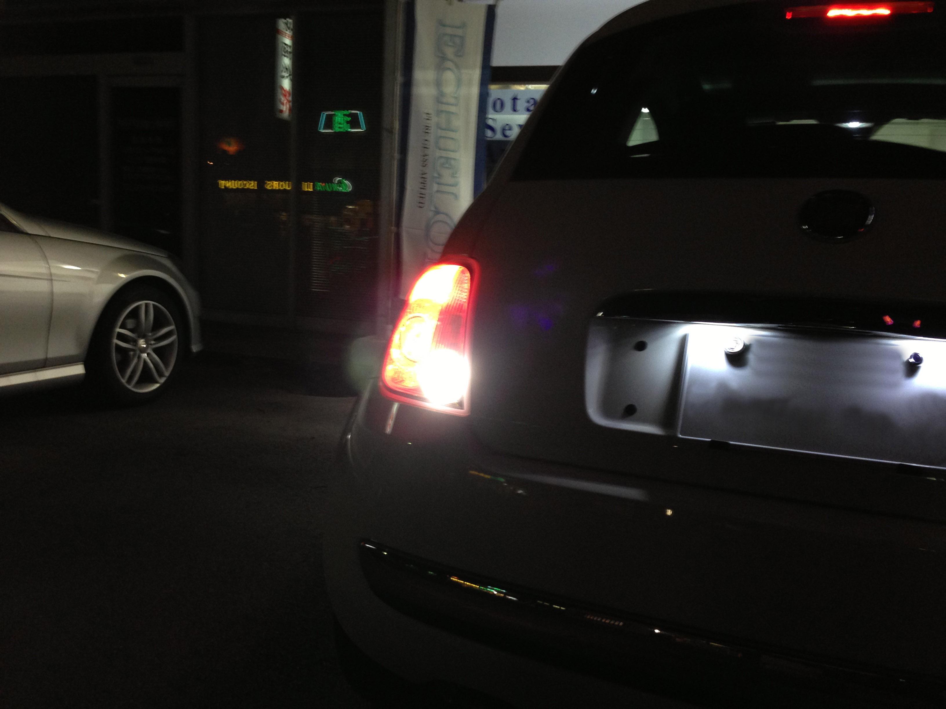 FIAT500バックランプLED化