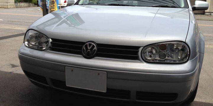 VWゴルフ4フロントグリル塗装