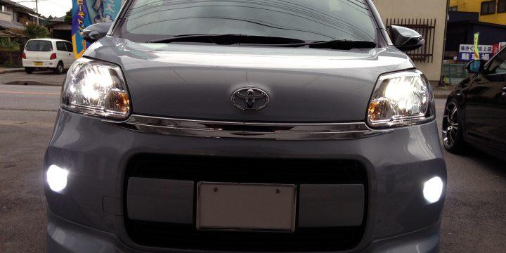 トヨタポルテのヘットライト&フォグランプHID化致しました。