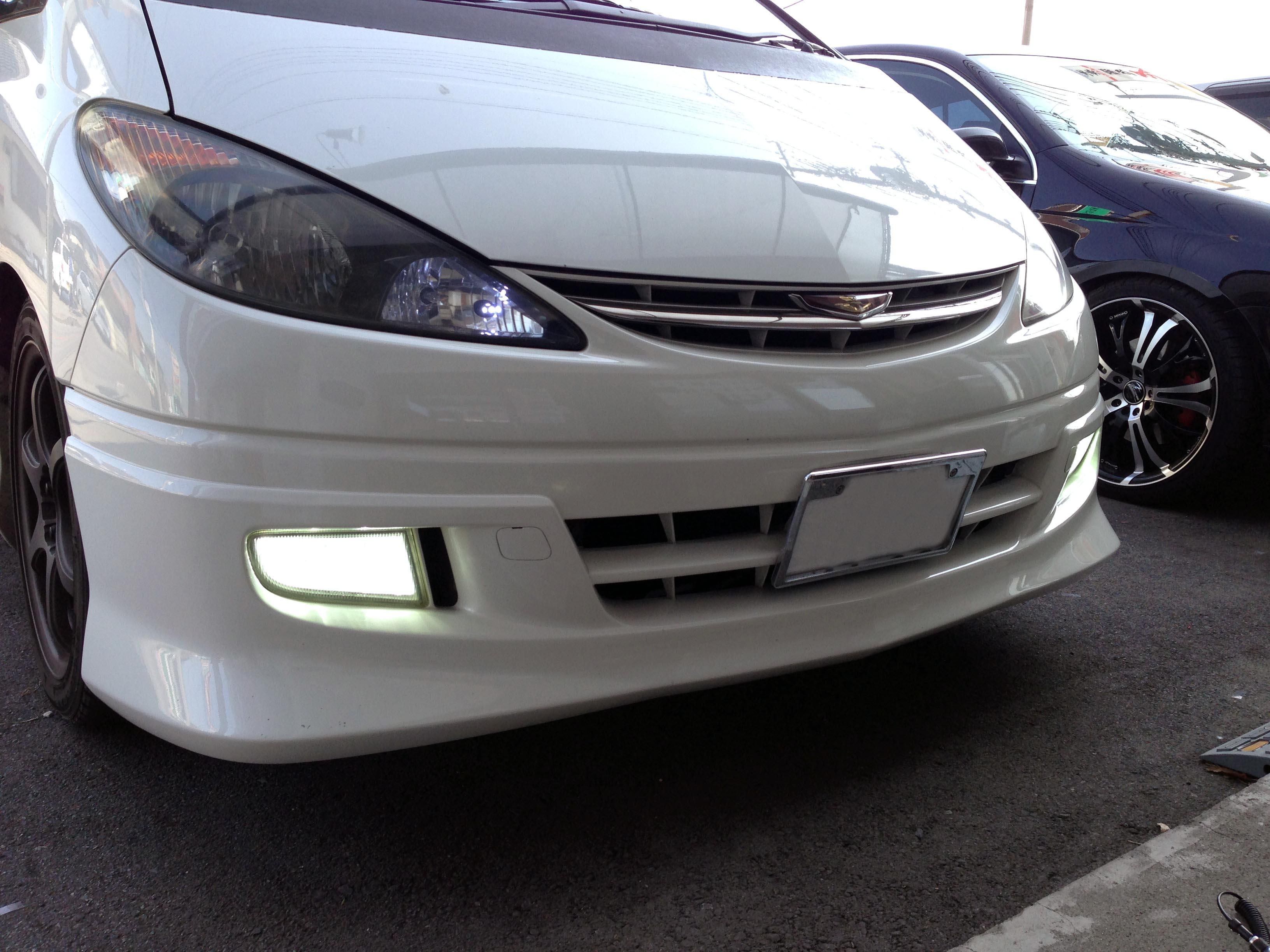 トヨタ30系エスティマフォグランプHID化