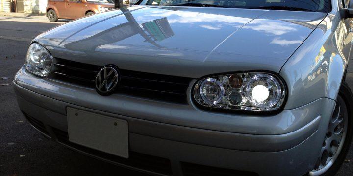 VWフォルクスワーゲンゴルフ4GTIヘットライト交換とHID取り付け