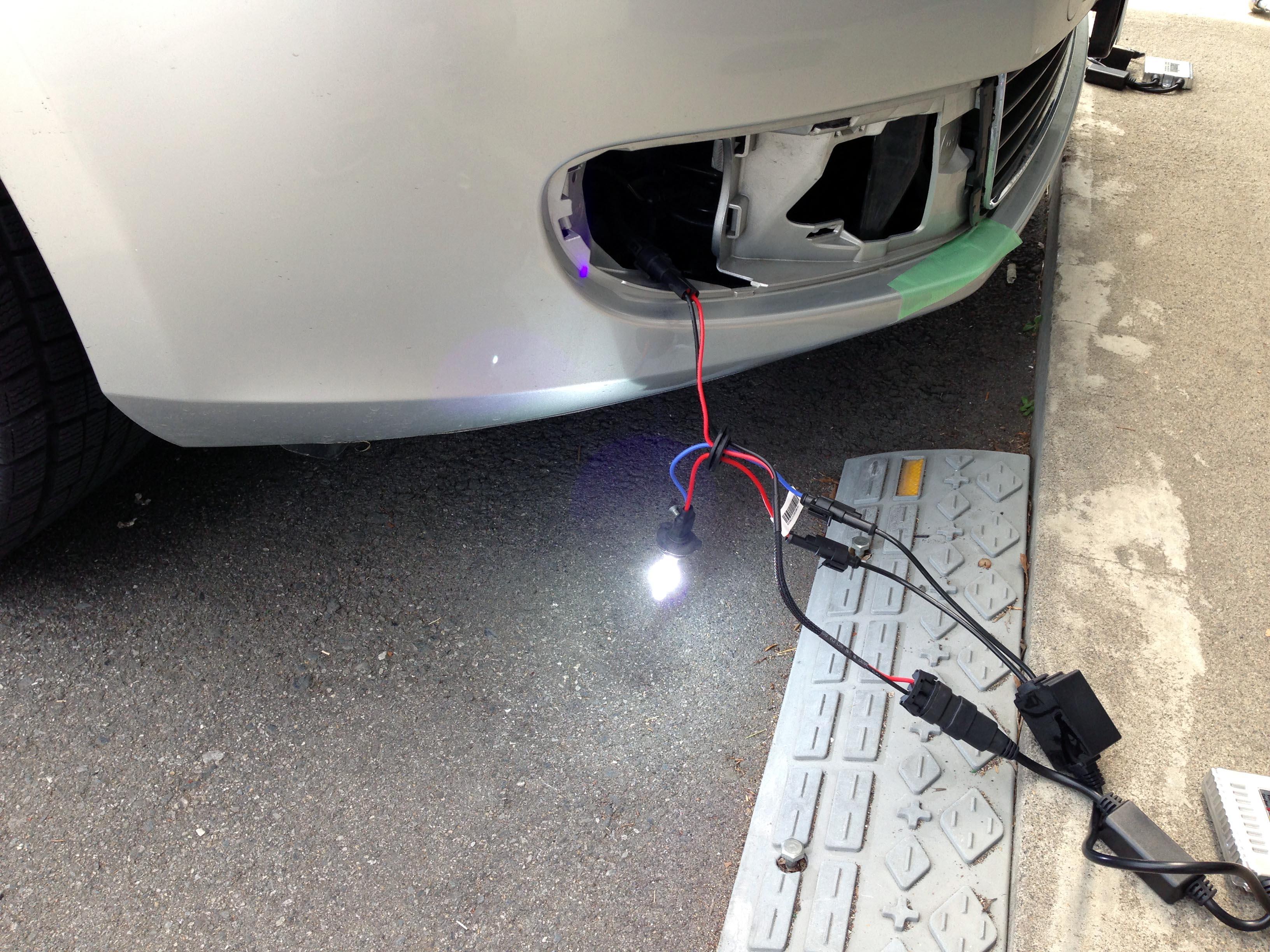 VWフォルクスワーゲンGOLF6フォグランプHIDバーナー空焼き