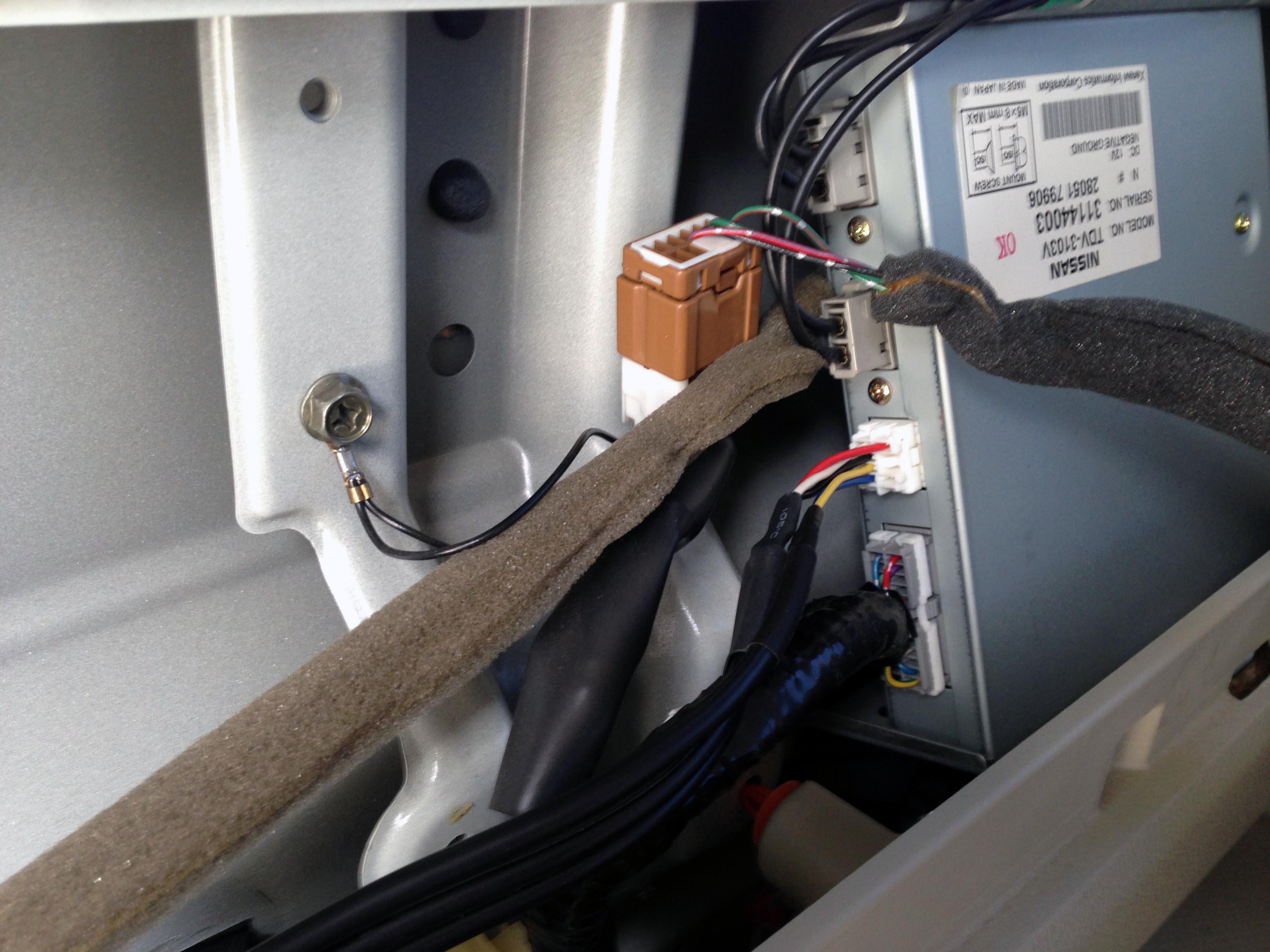 エルグランドツインモニターにビデオ入力ハーネスの取り付け