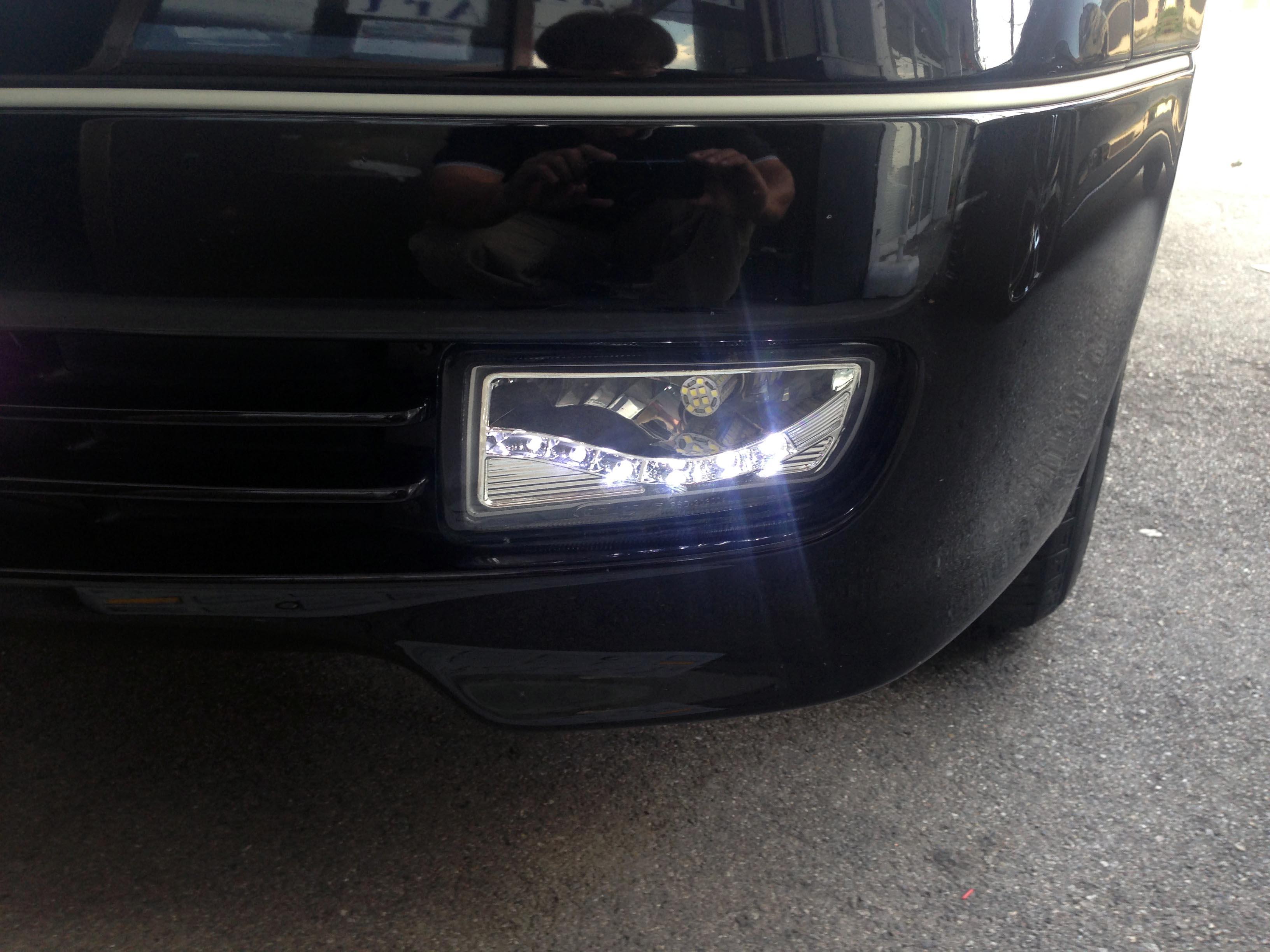 トヨタアリストデイライト内蔵LEDフォグランプキット取り付け後デイライト点灯