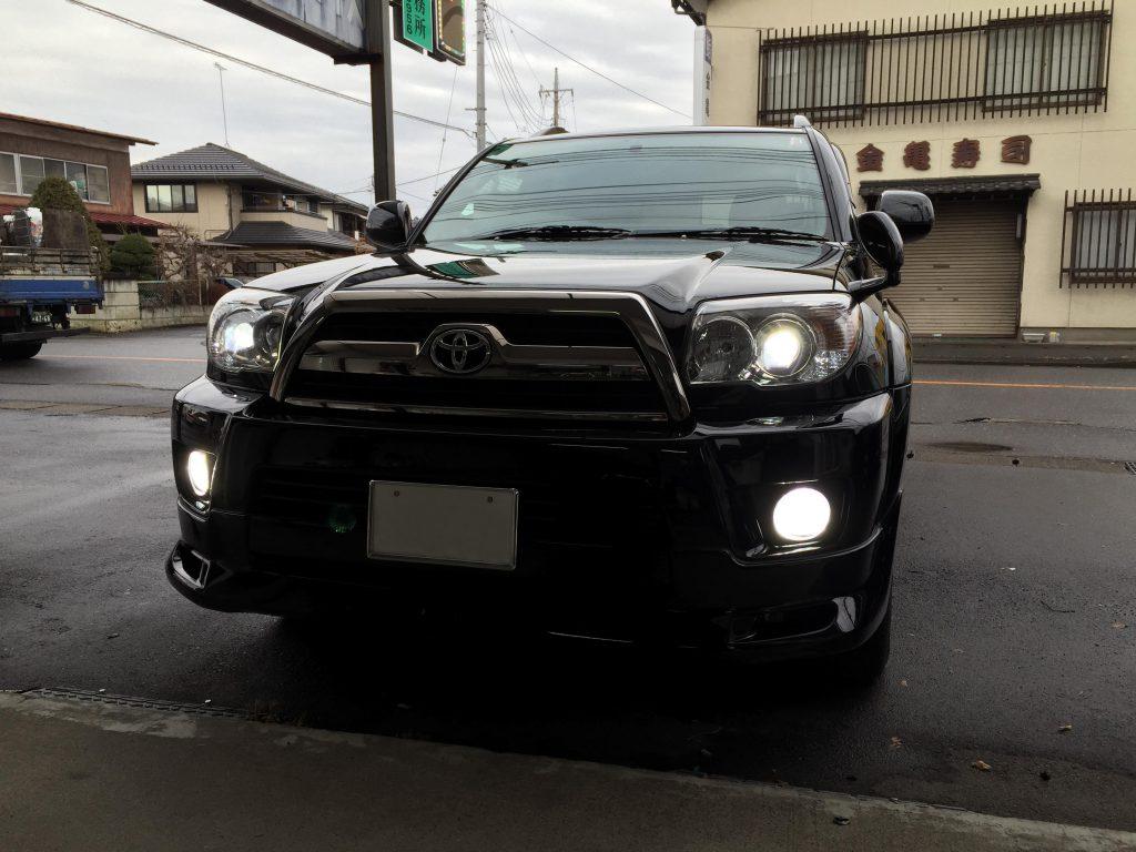 トヨタハイラックスサーフヘッドライトフォグランプHID化