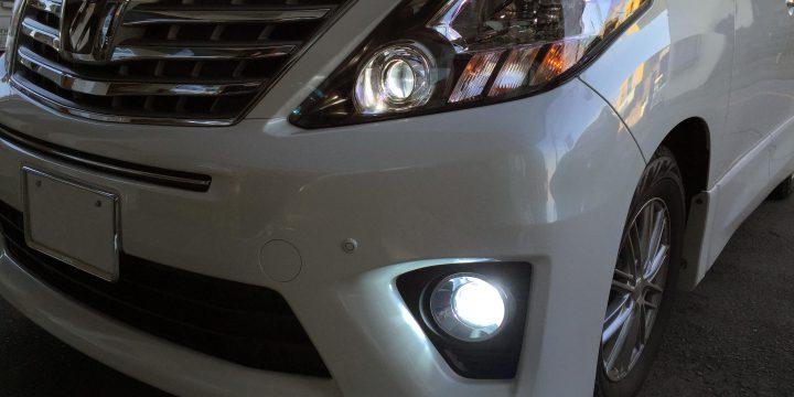 トヨタアルファードヘッドライトLoビーム75W化