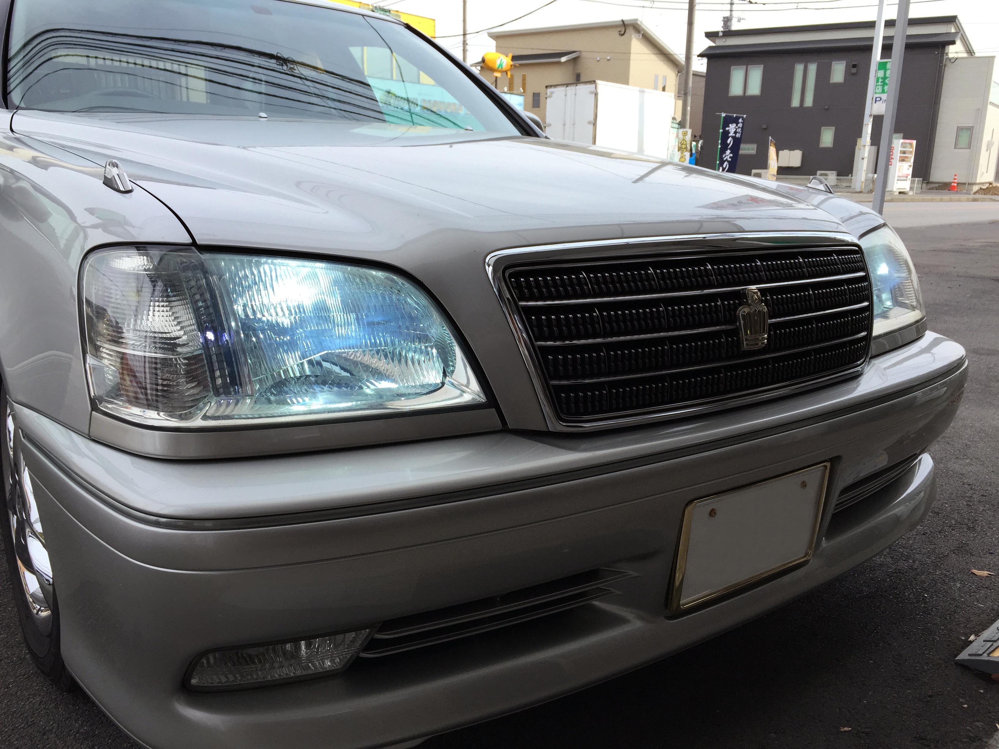 トヨタ17系クラウンヘッドライトHID化