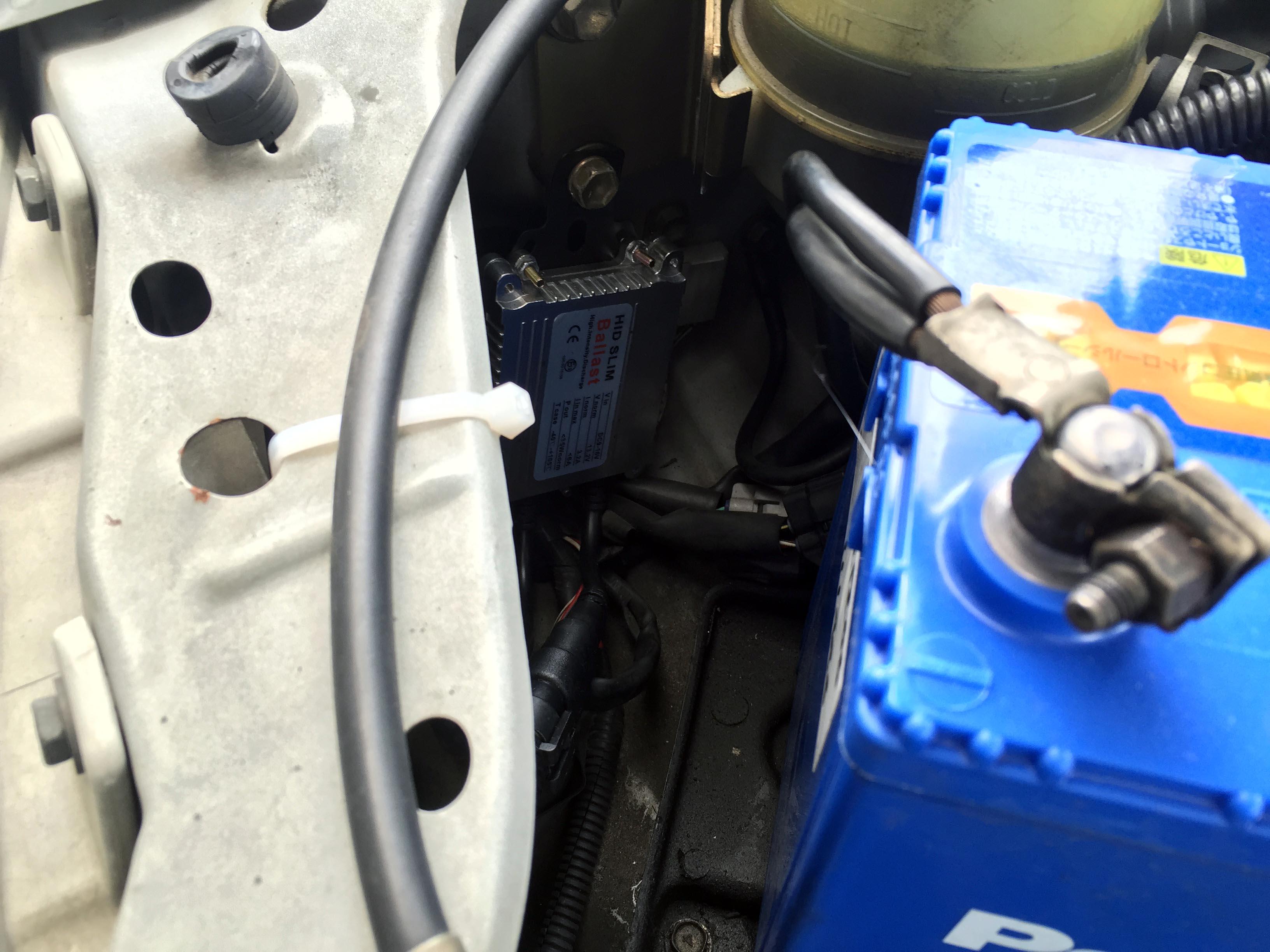 ダイハツテリオスキッド運転席側バラスト設置