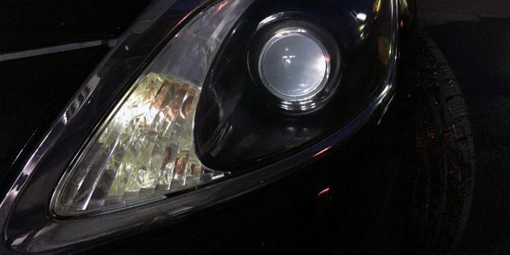 レクサスGSヘッドライトリフレッシュ(黄ばみ取り)後