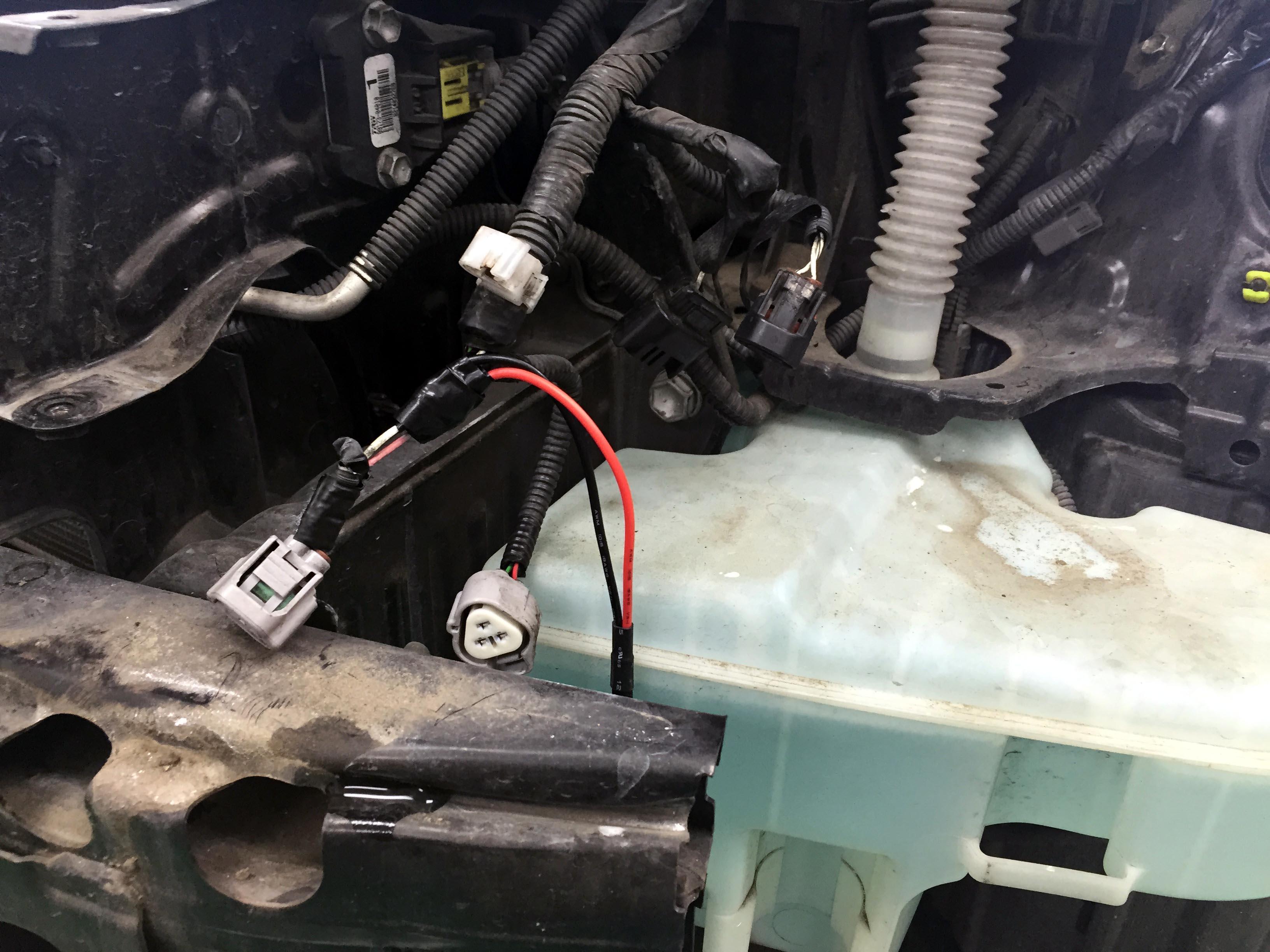 マークXヘッドライトHID-55W化バラスト配線接続