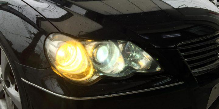 マークXヘッドライトとフォグランプ55W化