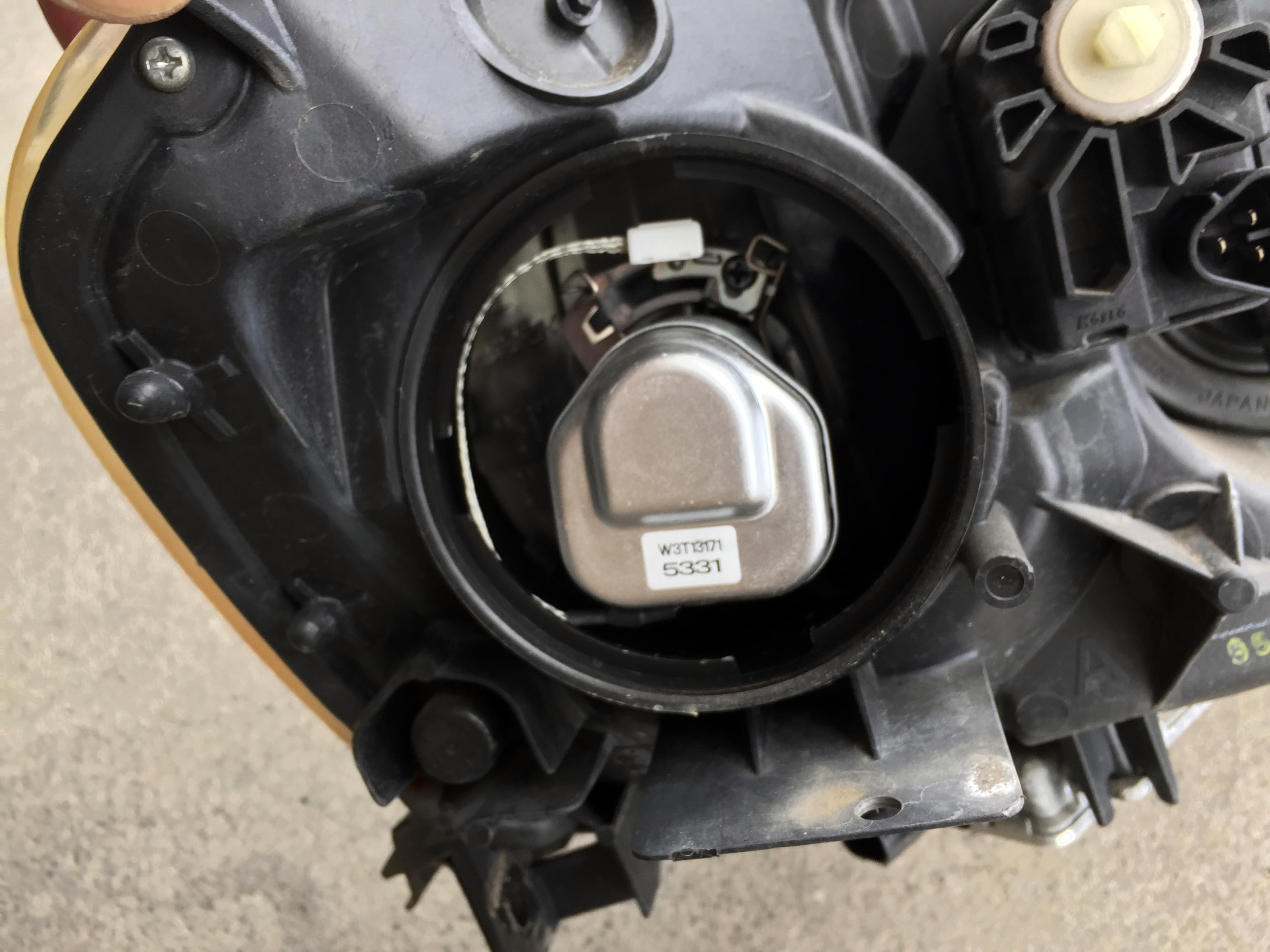 ホンダDC5インテグラtypeRヘッドライトD2R交換前