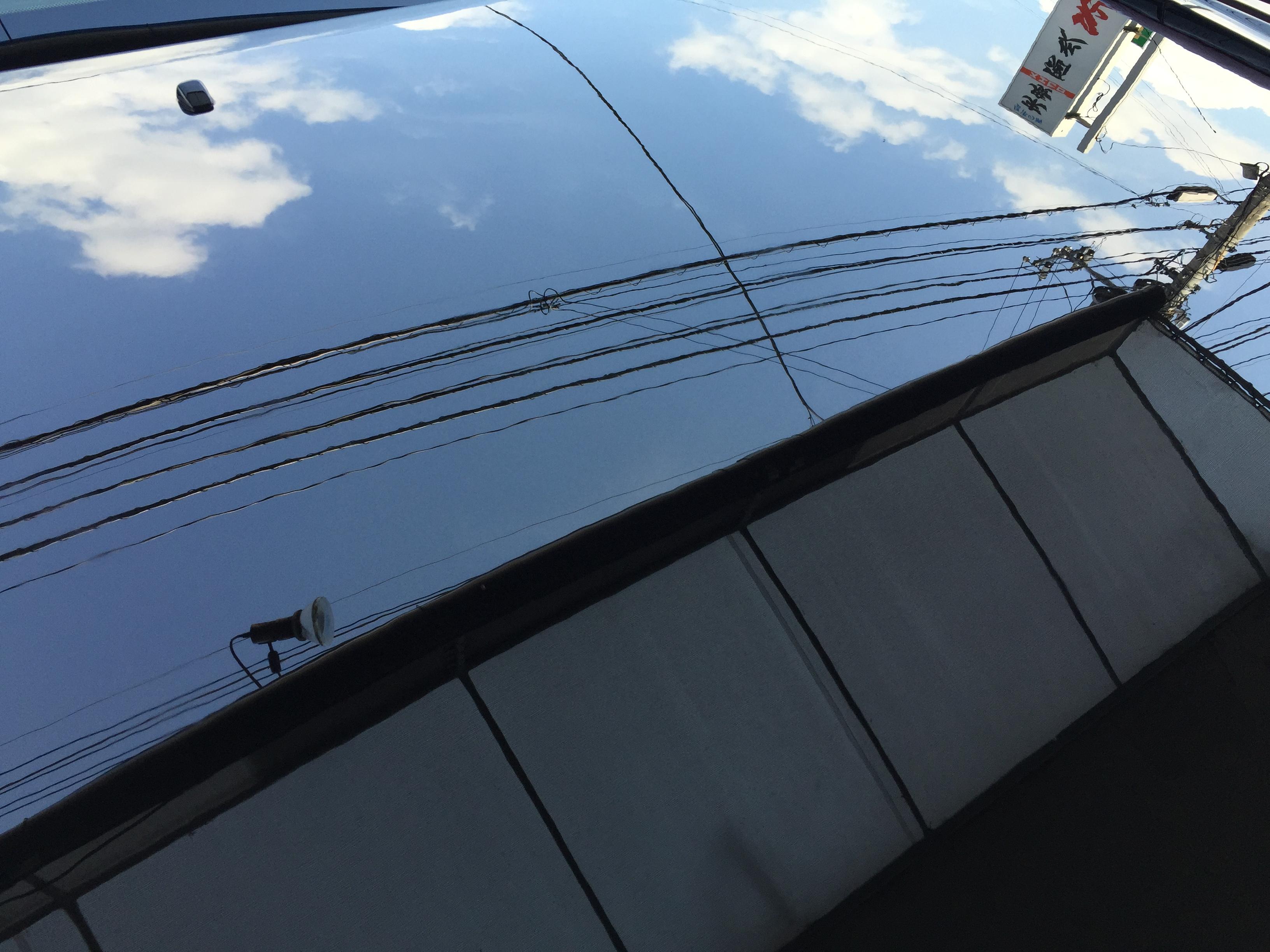 トヨタ30セルシオエシュロンコーティング施工後の艶感