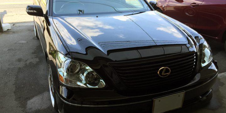 トヨタ30セルシオエシュロンコーティング施工し美しい艶になりました