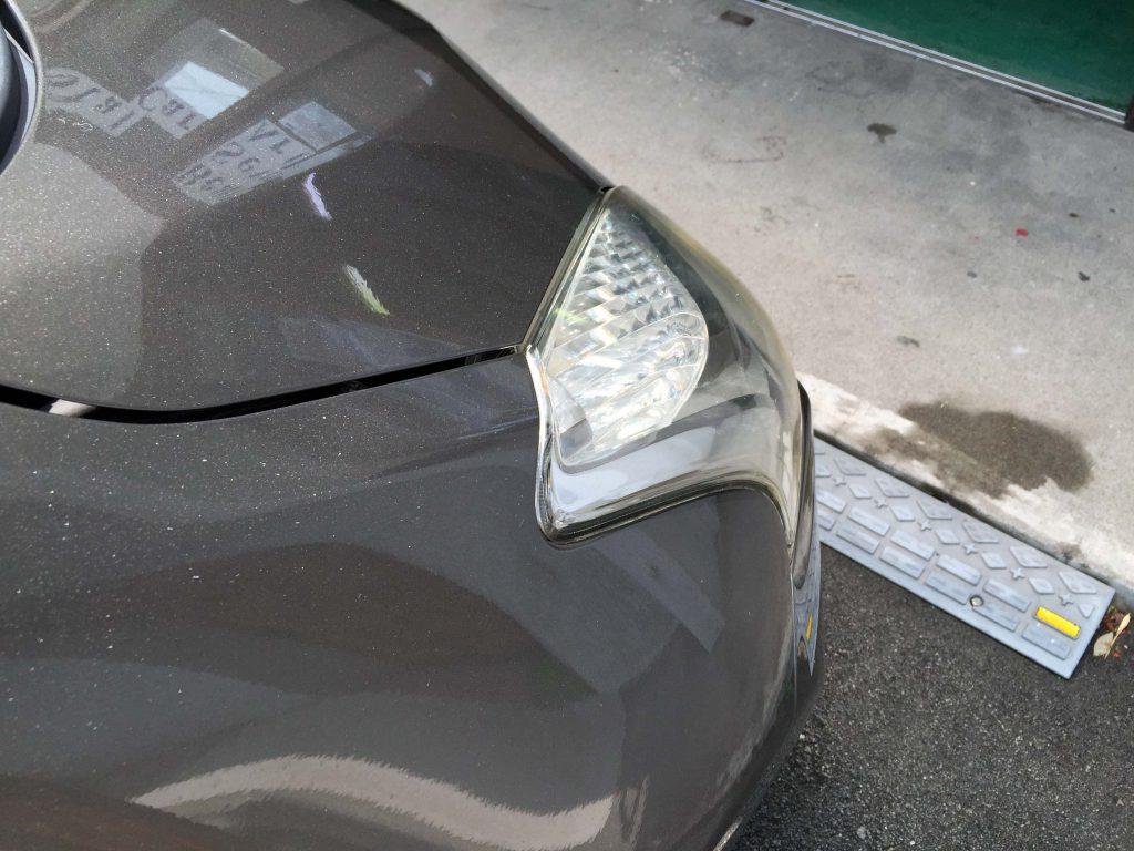トヨタラクティスのヘッドライトリフレッシュ後はクリアーなレンズに復活