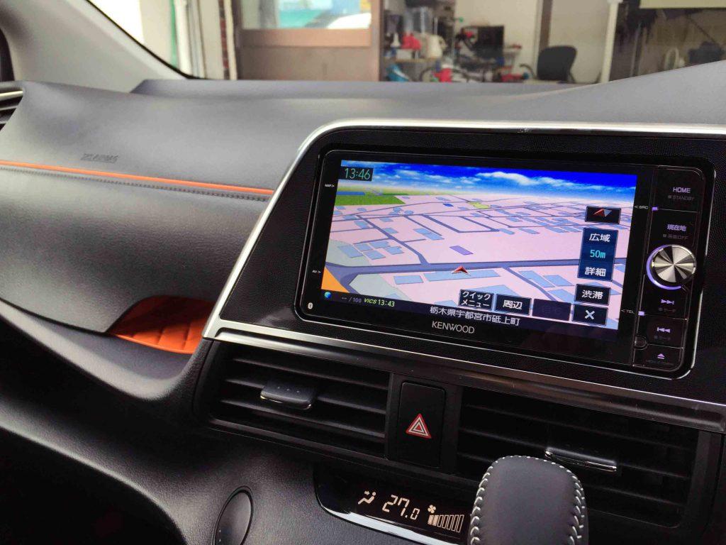 トヨタ新型シエンタへ取り付けたナビの地図画面