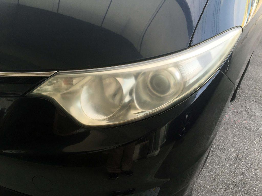 トヨタ50系エスティマのヘッドライトの黄ばみ