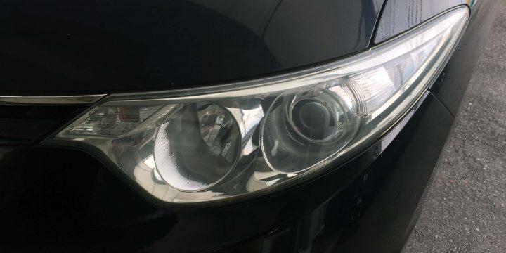 トヨタ50系エスティマのヘッドライトがクリアーなレンズに復活