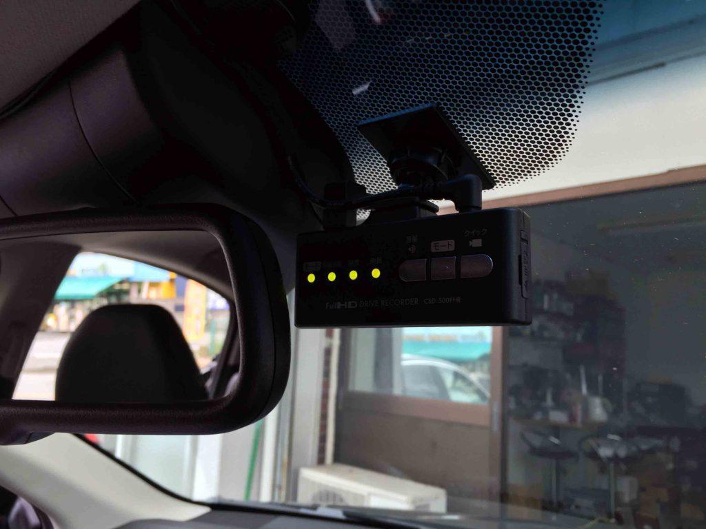 ホンダヴェゼルへ取り付けたセルスターCSD-500FHRドライブレコーダー