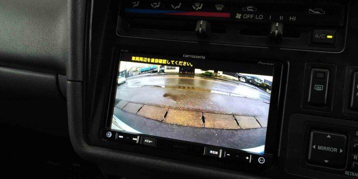 トヨタ100系ハイエースに取り付けたバックカメラ映像