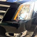 キャデラックCTSのヘッドライトD1Sを6000Kへ変更致しました