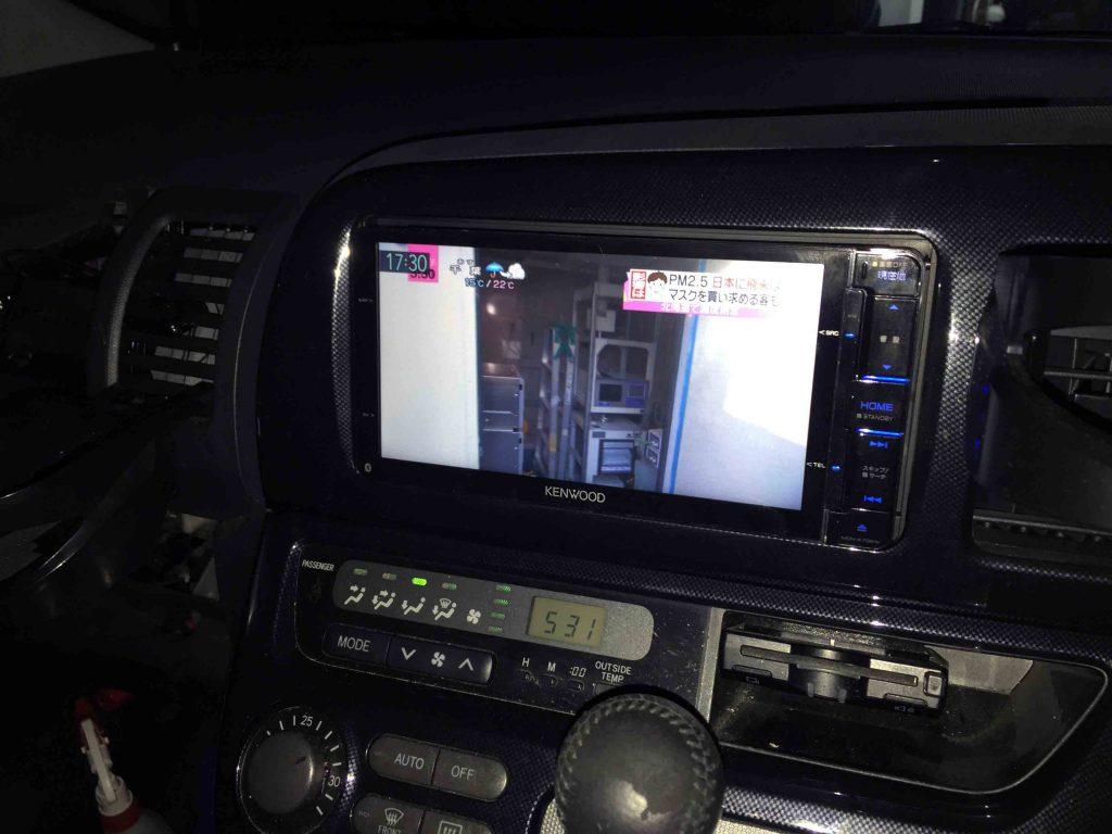 トヨタ10系ウィッシュに取り付けたケンウッドMDV-Z702Wの地デジ映像