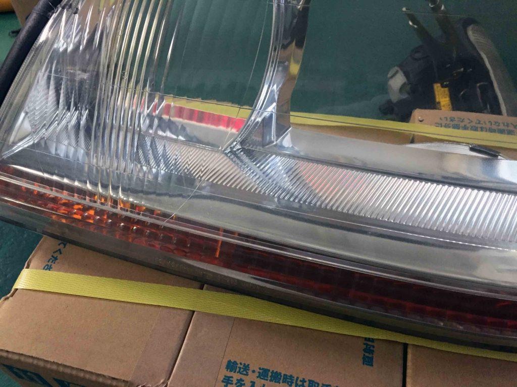 トヨタ17系クラウンマジェスタのヘッドライトを殻割しました