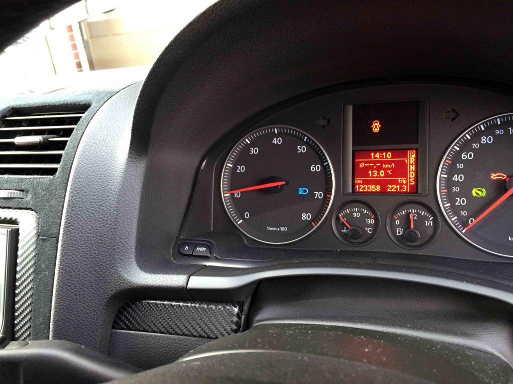 VWフォルクスワーゲンジェッタに取り付けたキャンセラーで警告灯も点灯せず良好です