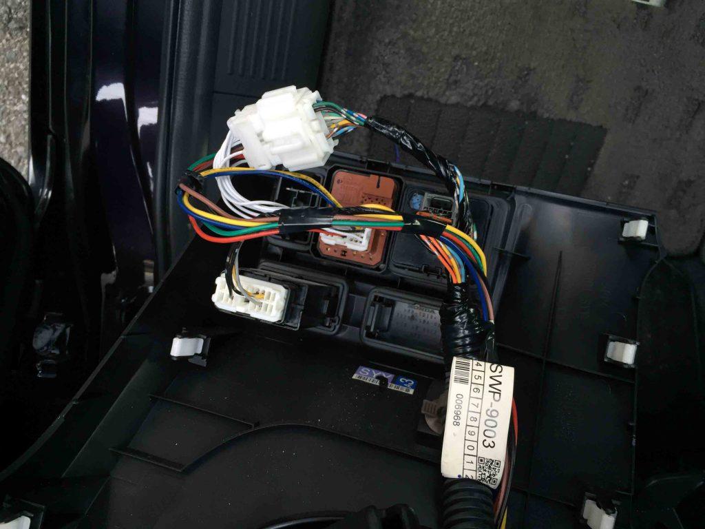 ホンダフリードへ取り付けたパーソナルCarパーツ製キーレス連動ドアミラー格納ユニット