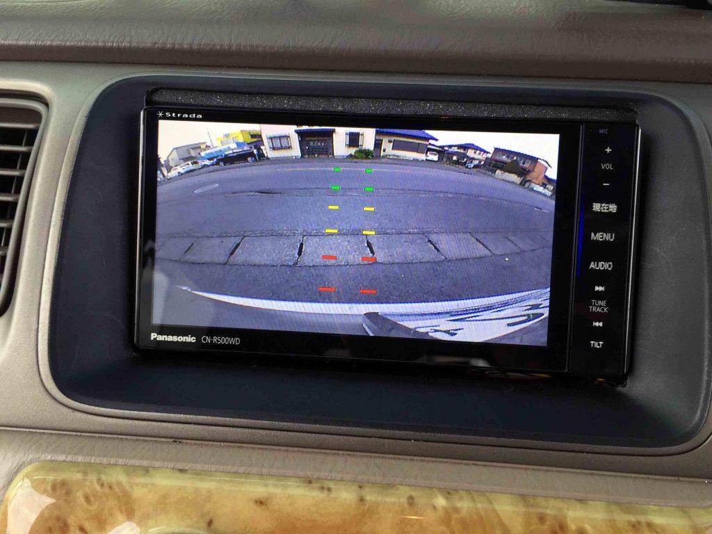 ホンダRF3ステップワゴンへ取り付けたバックカメラ映像