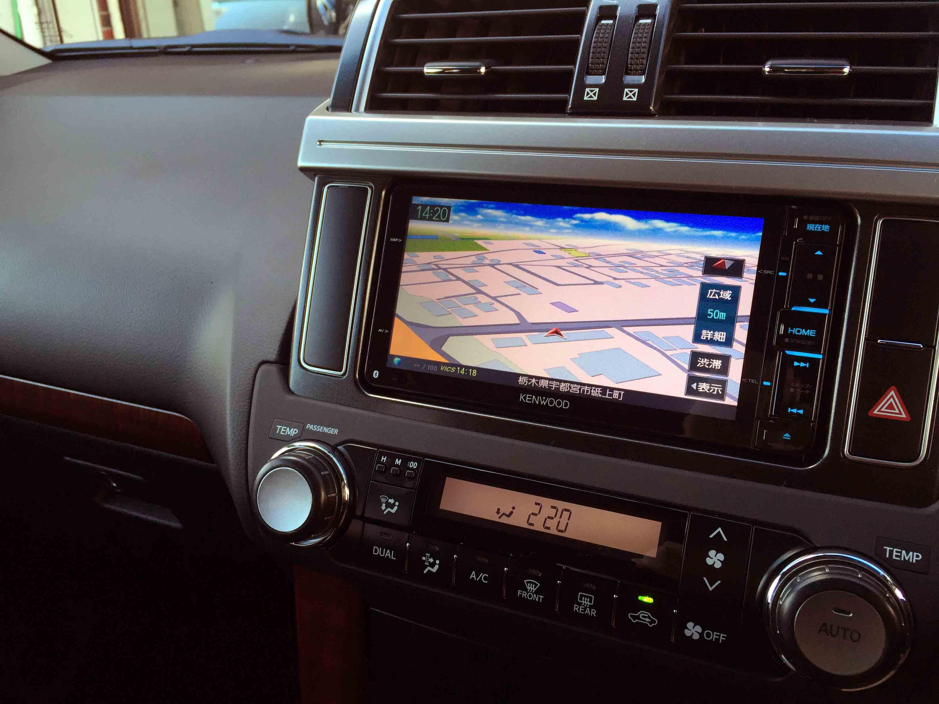 トヨタ150系プラドへ取り付けたケンウッドNDV-X702Wカーナビ