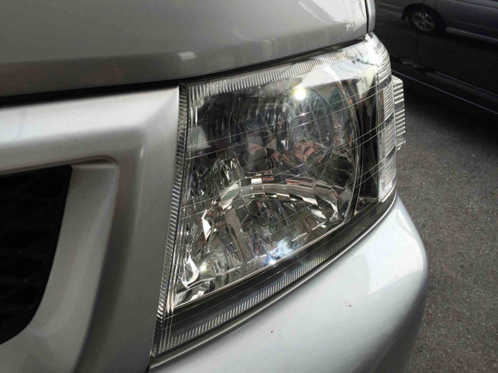 ホンダRF3ステップワゴンのポジションランプをCREEチップLEDに交換