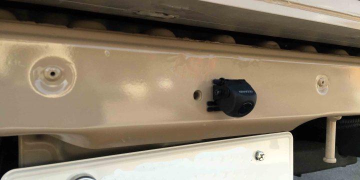 トヨタタウンエースへ取り付けたケンウッド製のバックカメラ
