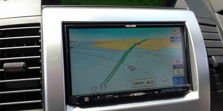 マツダプレマシーに取り付けたAVN-G05のナビ画面