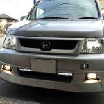 ホンダRF3ステップワゴンのヘッドライトを純正キセノンタイプへ交換し点灯