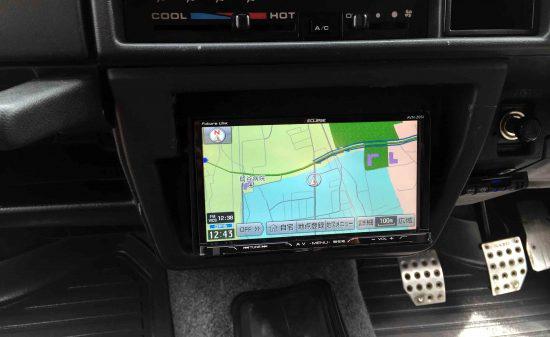 スズキJA22Wへ取り付けたAVN-Z05iのナビ画面