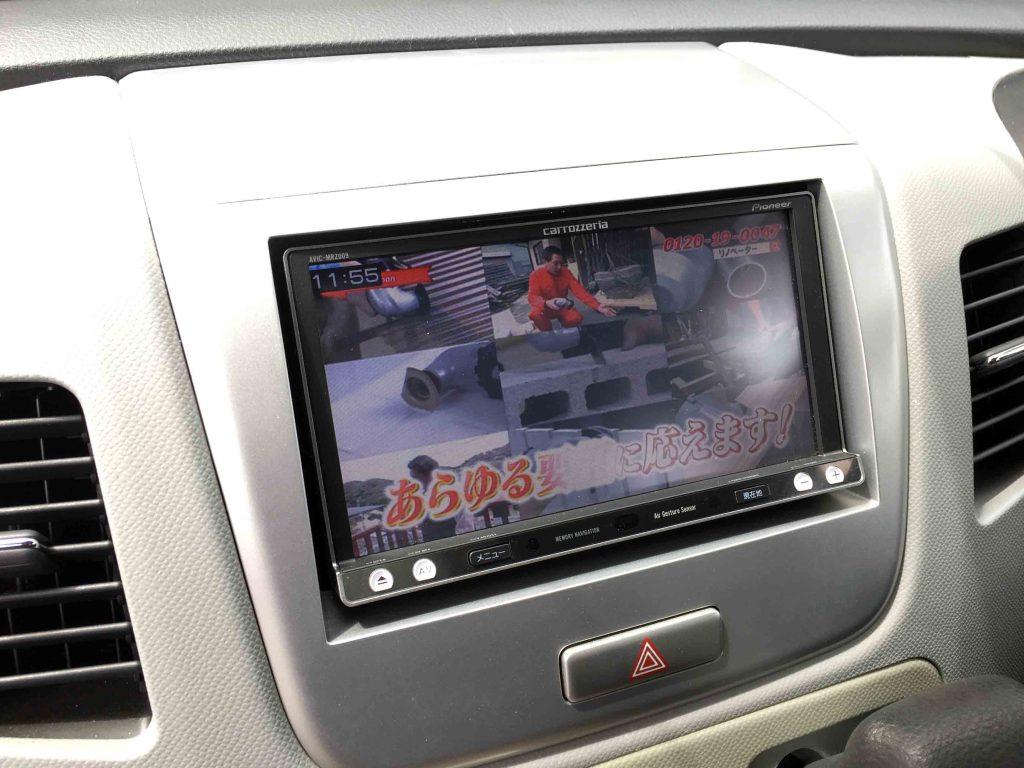 スズキMH23SワゴンRへ取り付けたナビの地デジ映像