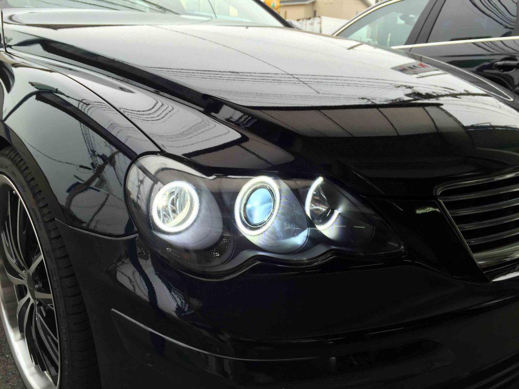 トヨタマークXのLoビームをHID化(運転席側)
